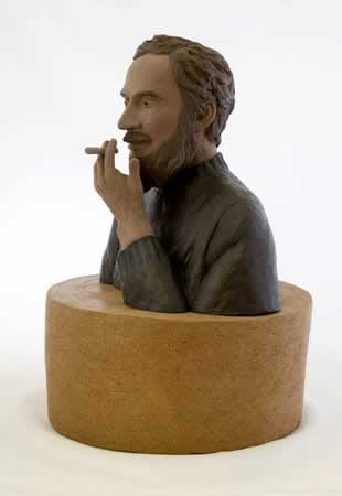 Smoking Man, sculpture by Constantin Brancusi