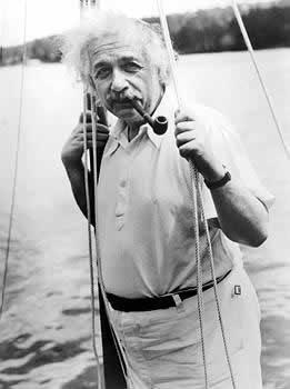 Albert Einstein before his departure for Bermuda