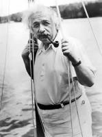 Albert Einstein before his departure for Bermuda