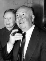 Alfred Hitchcock with his wife