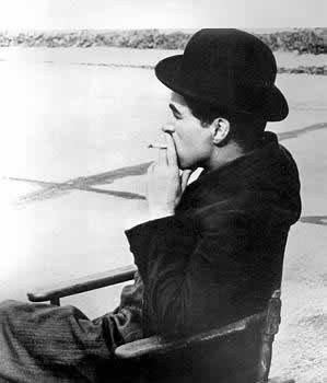 Charlie Chaplin smoking