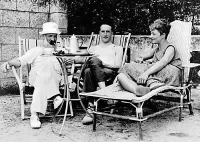 Constantin Brancusi, Marcel Duchamp, and Mary Reynolds at Villefranche, France in 1929