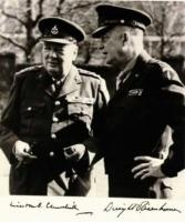 Dwight Eisenhower and Winston Churchill in Northern France on June 1943