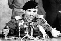 King Hussein smoking