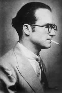 Mircea Eliade, young, smoking a cigarette