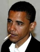 Barack Obama smoking