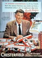 Ronald Reagan promoting Chesterfield cigarettes